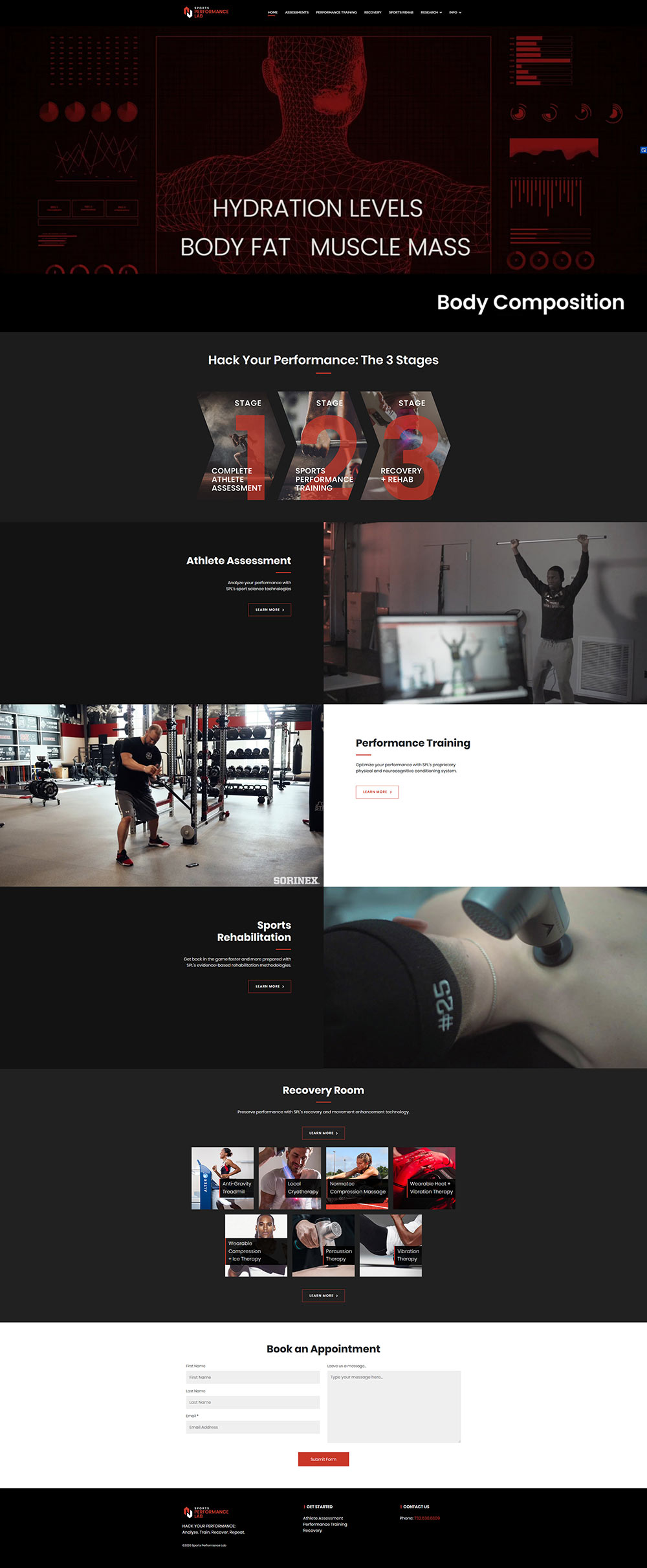 Sports Performance Homepage