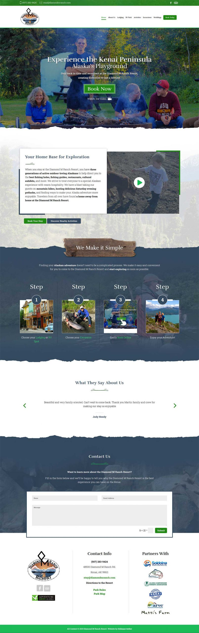 Diamond M. Ranch Resort Homepage