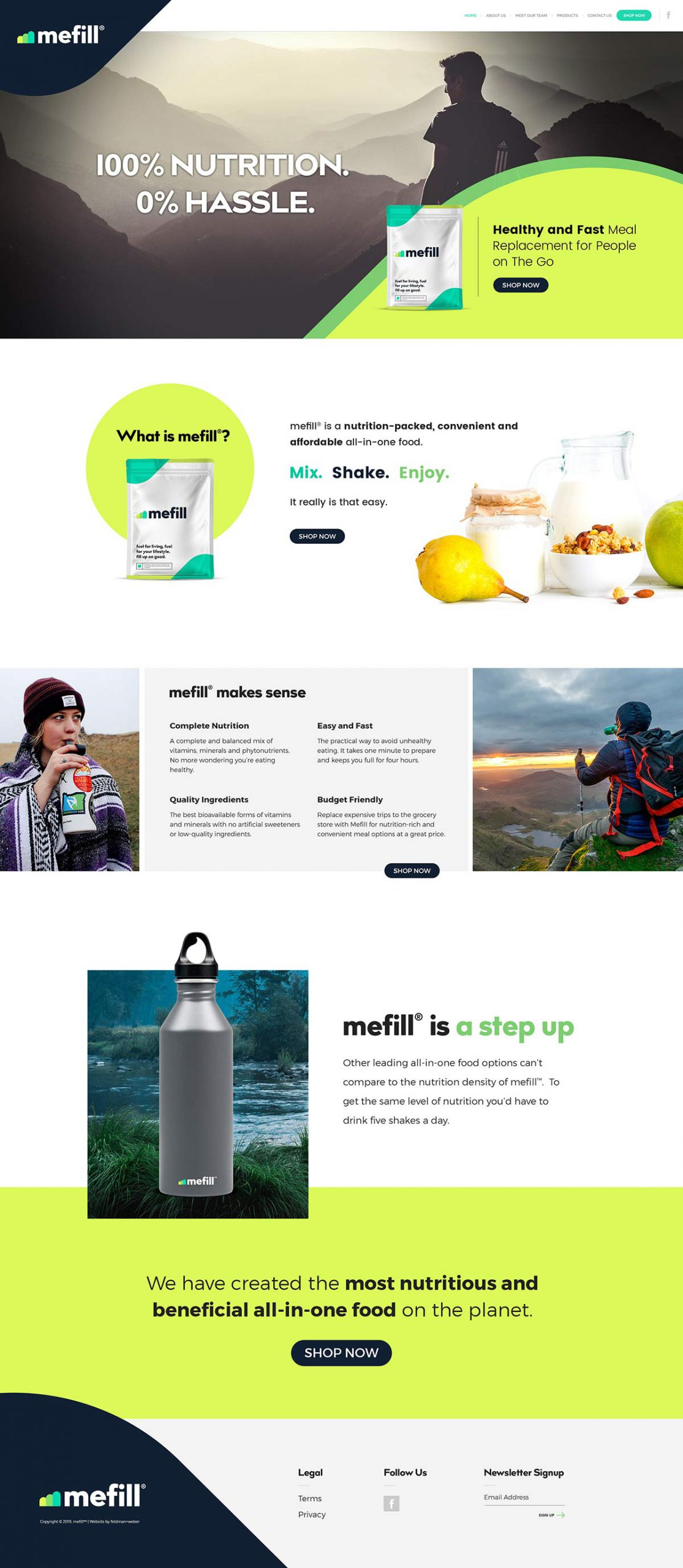Mefill Homepage