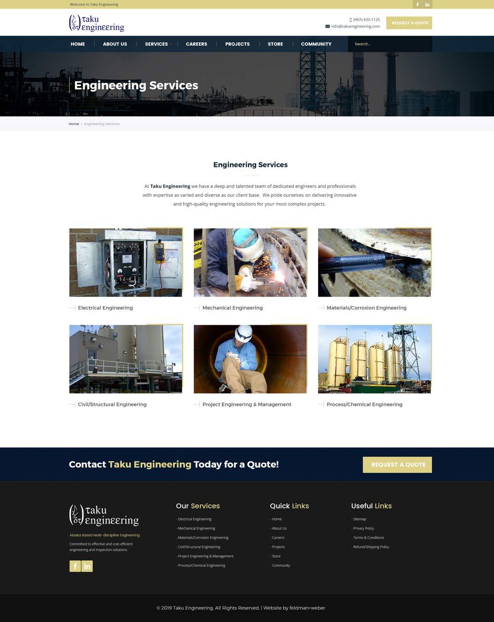 Taku Service page